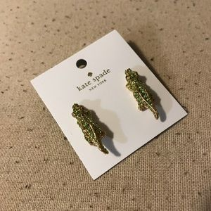 Kate spade alligator earrings